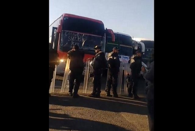 CNTE denuncia que policías les impiden el paso a la CDMX