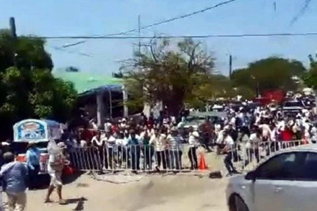 CNTE rechaza que haya reventado mitin de Meade en Oaxaca