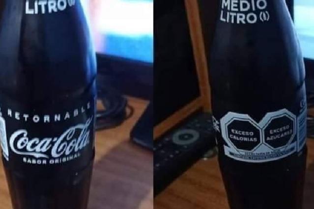 Sin rojo y con advertencia: Así se vería la nueva Coca Cola de vidrio