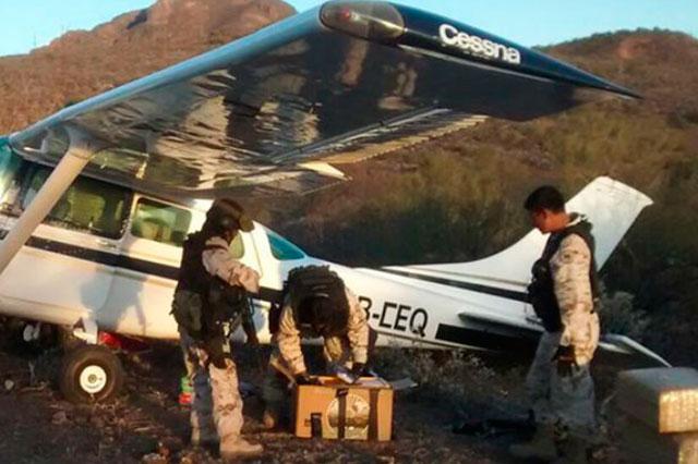Captura el ejército una avioneta cargada con 440 kilos de marihuana