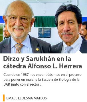 Dirzo y Sarukhán en la cátedra Alfonso L. Herrera