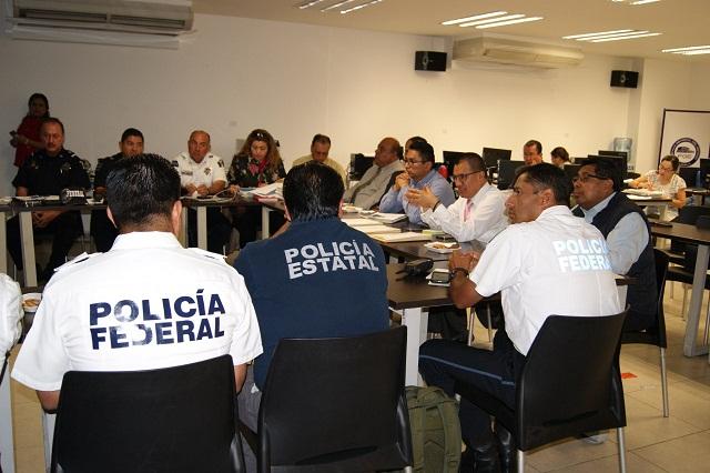 Colabora FGE con Policía Federal y Estatal en el Triángulo Rojo