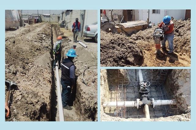 Amplían red de agua potable en la colonia Joyas del Sur
