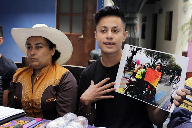 Hubo infiltrados en marcha LGBTTTI en Puebla, aseguran