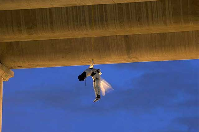 Cae sujeto vinculado con el colgado en el puente de La Concordia