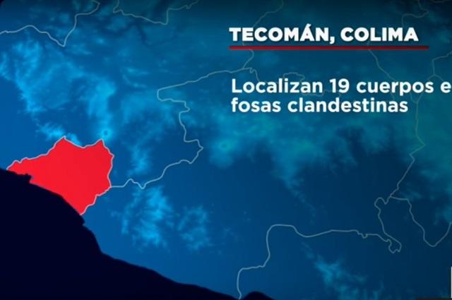 Encuentran en Colima 69 cuerpos en 49 fosas clandestinas