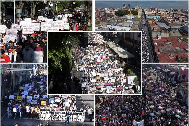 Miles exigen a Miguel Barbosa seguridad, o su renuncia