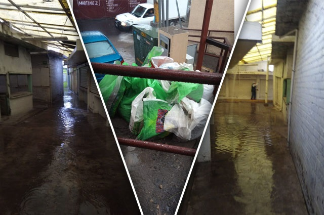 Inundaciones y deuda con CFE agobian al mercado de Amalucan