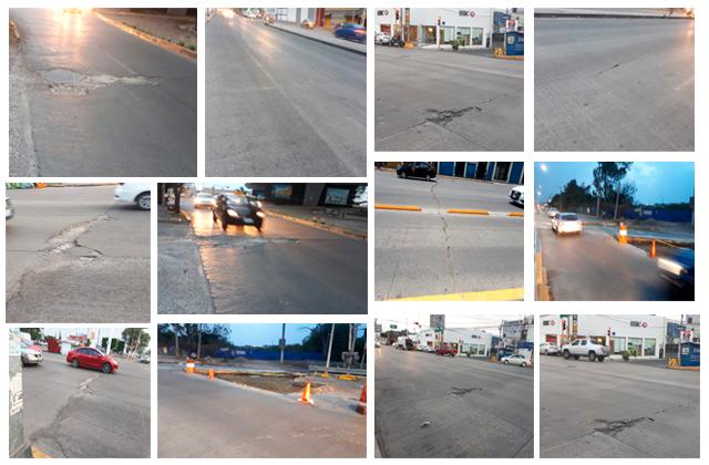 Iba a durar 30 años pero le salen baches a súper concreto en Puebla
