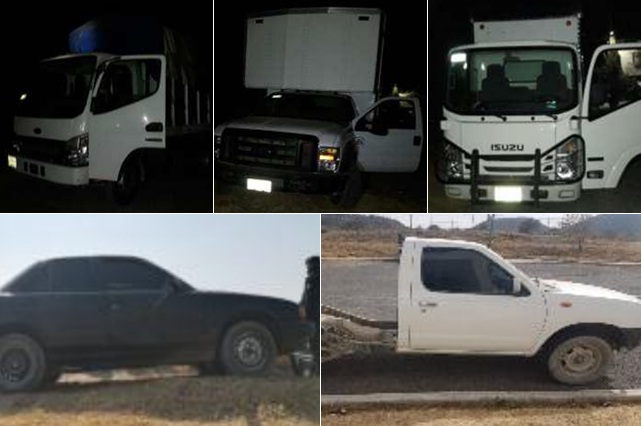 Policía Estatal recuperó seis vehículos con reporte de robo