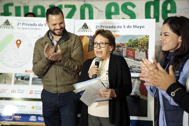Gobierno Municipal entrega a colonia Ignacio Zaragoza vialidad rehabilitada