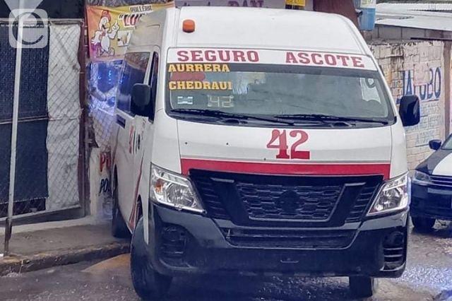 Disparan en contra de conductor de colectiva en Tehuacán