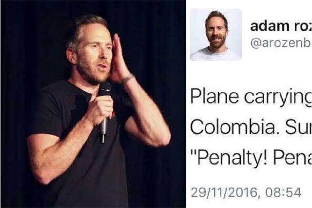 Comediante se burla de tragedia del Chapecoense y lo tunden en redes