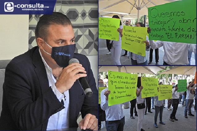 Por la buena o con amparo abren comercios de Puebla el 6 de julio