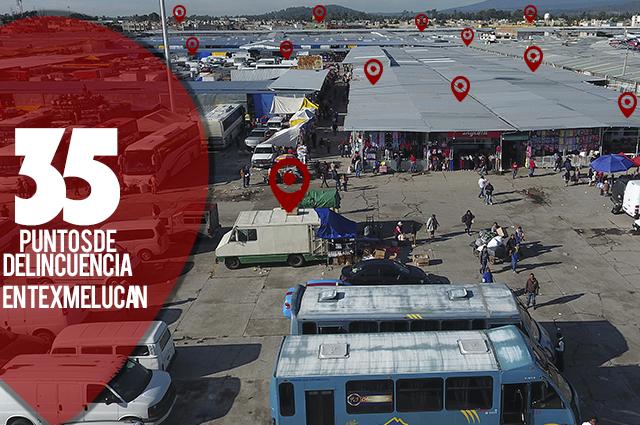 Ubican comerciantes 35 puntos de delincuencia en Texmelucan