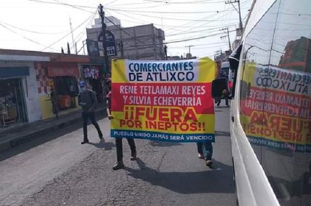 Comerciantes piden cabeza de Tetlamatzin y Chavarría en Atlixco