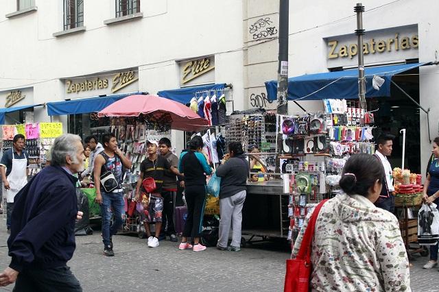 Comerciantes del centro histórico piden vigilancia contra ambulantes
