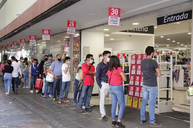 Comercio en Puebla no recupera ni las cifras de inicio de 2020