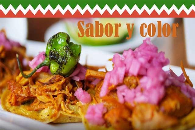 Cosas de la comida mexicana, sabor y color