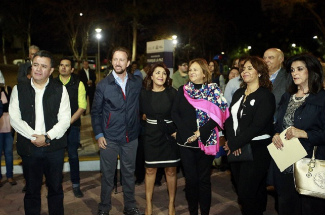 Rehabilitación del Parque La Paz, posible por trabajo de Comité 4x4