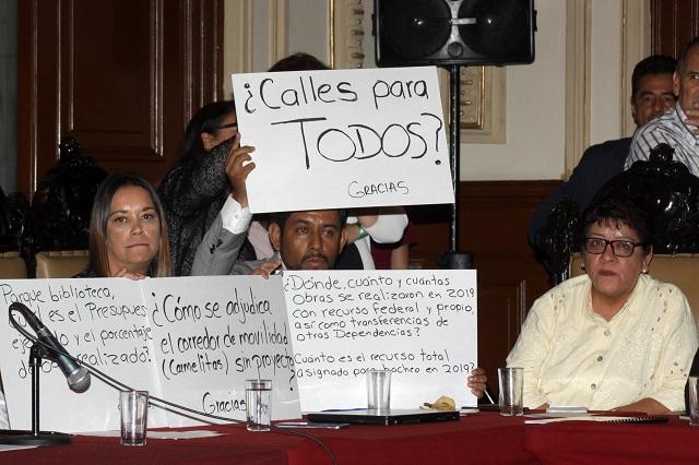 Protestan regidores por falta de obras en Puebla capital