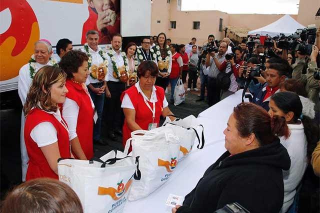 Puebla Comparte atenderá a 160 mil personas que no tienen qué comer