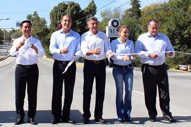 Inauguran formalmente pavimentación en el Bulevar Atlixco