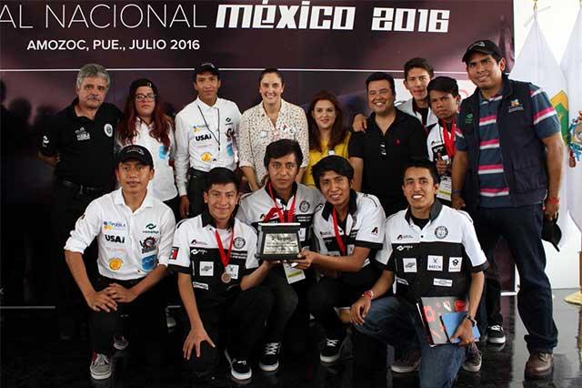 Estudiantes Conalep obtienen 3er lugar en desafío F1 in Schools México