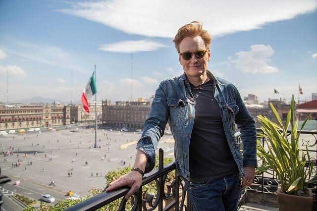 Conan O'Brien dice que en México sólo lo aman los hombres