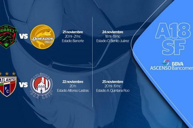 Concretan horarios y fechas para las semifinales del Ascenso MX