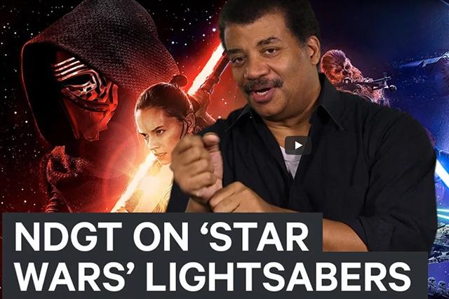 Neil deGrasse Tyson cuenta la verdad sobre los sables de luz de Star Wars