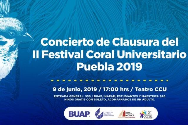 Concierto de Clausura del II Festival Coral Universitario Puebla 2019