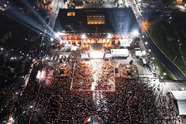 Pese a covid-19, más de 50 mil personas en concierto de Samuel García