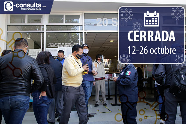 Cierran 2 áreas de la JLCA en Puebla al hallar casos de Covid