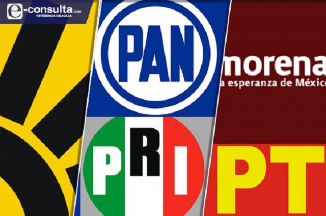 Concretan partidos alianzas Va por Puebla y Juntos Haremos Historia