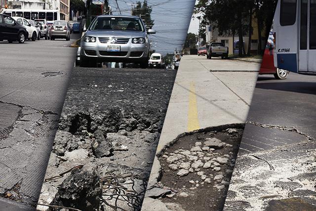 Truenan vialidades con concreto que iba a durar 20 años en Puebla