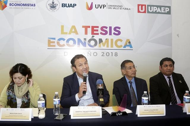 Universidades convocan a premio para tesis con tema de economía