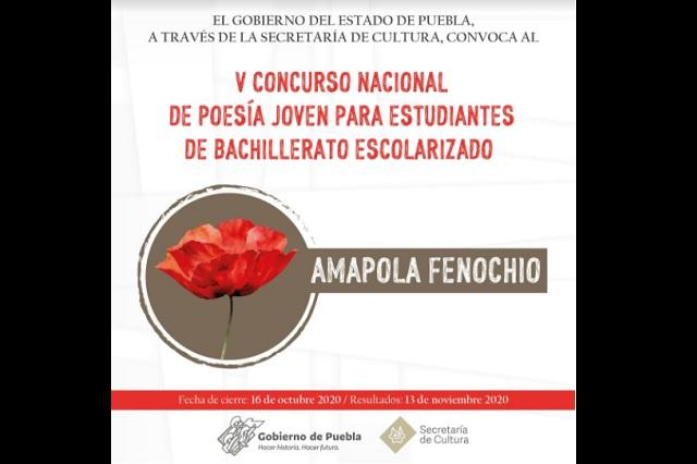 Convoca Secretaría de Cultura a concursos nacionales de poesía