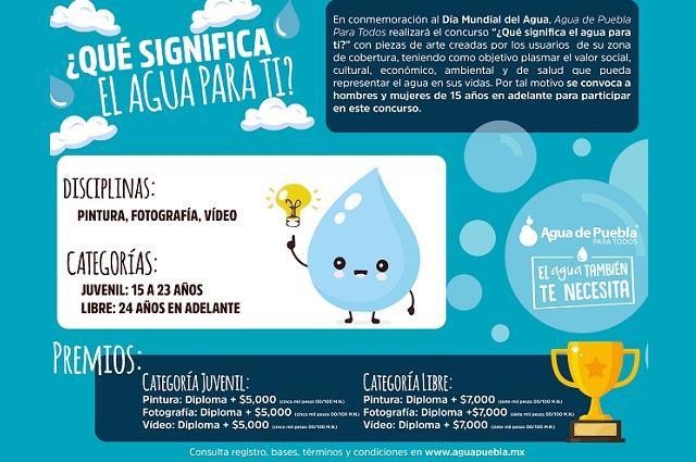 Agua de Puebla lanza el concurso ¿Qué significa el agua para ti?