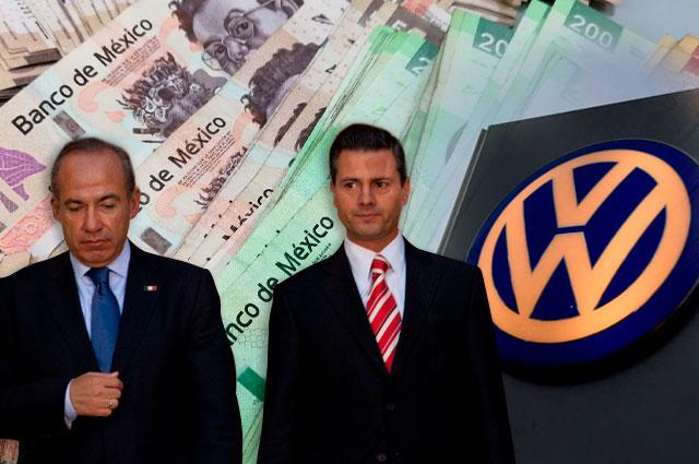 Calderón y Peña perdonaron 2,452 mdp en impuestos a VW