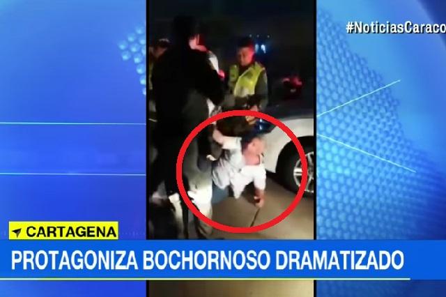 Conductor presuntamente ebrio finge que policías lo golpearon