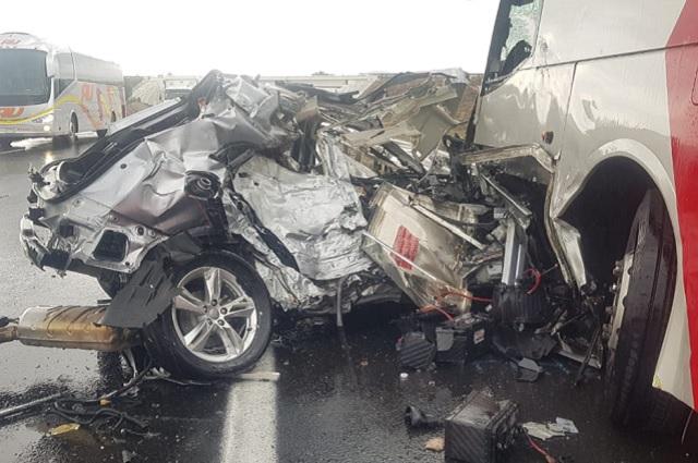 Conductor muere prensado en su Audi rumbo a Tehuacán