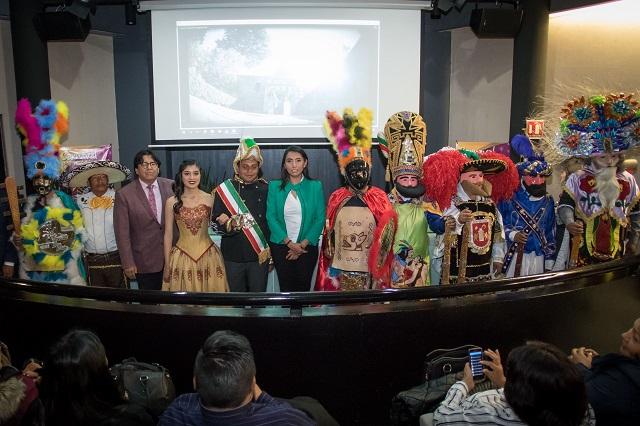 Presentan en la CDMX la edición 151 del carnaval de Huejotzingo
