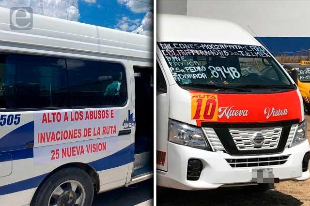 Transportistas denuncian invasión de rutas y acusan a la SMT