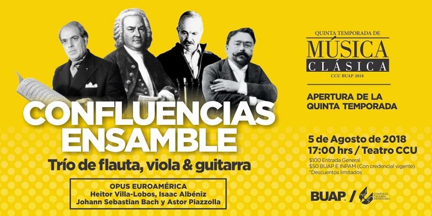 Comienza V Temporada de música clásica del CCU BUAP