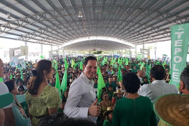 Congrega el Verde, con Tepole y Kuri, a 20 mil personas en Tehuacán