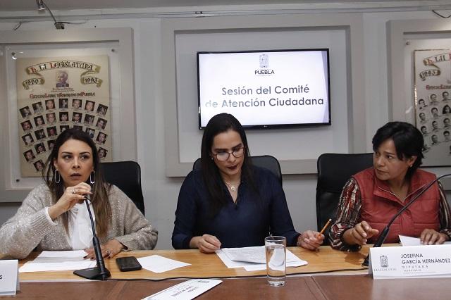 Morenistas dejan trabajo legislativo durante visita de AMLO a Puebla