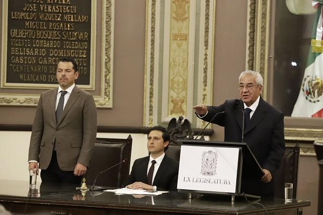 Protesta Pacheco Pulido como gobernador interino de Puebla