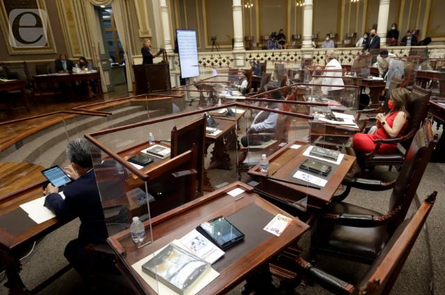 Cinco contagios de COVID en el Congreso de Puebla