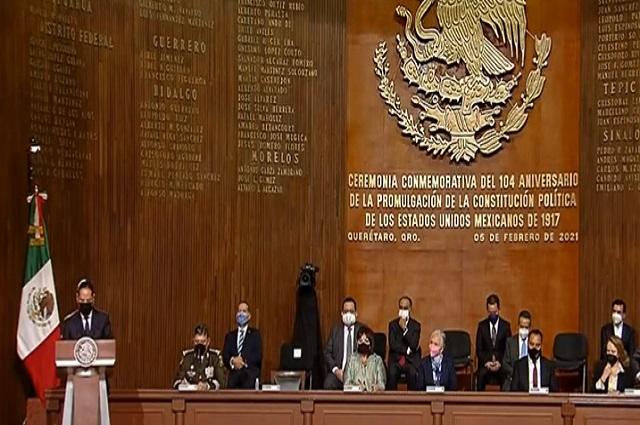 Se conmemora el 104° aniversario de la Constitución en Querétaro